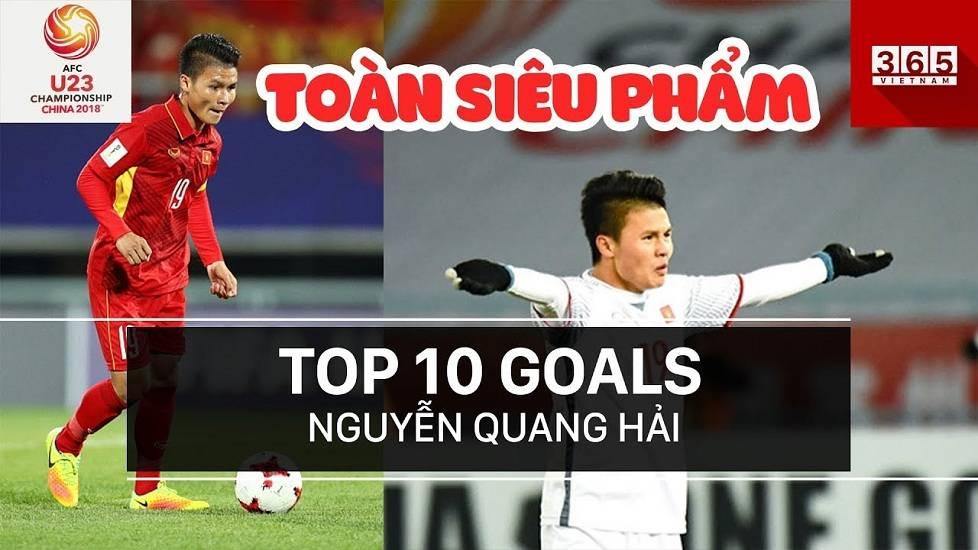 10 siêu phẩm của tiền vệ Quang Hải trong năm 2018
