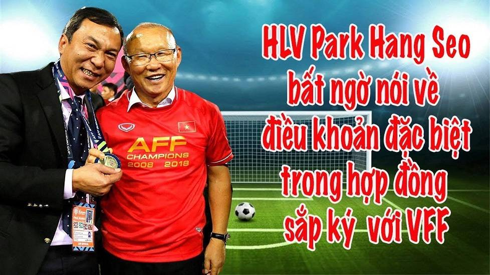 HLV Park Hang Seo chốt xong hợp đồng gia hạn với VFF
