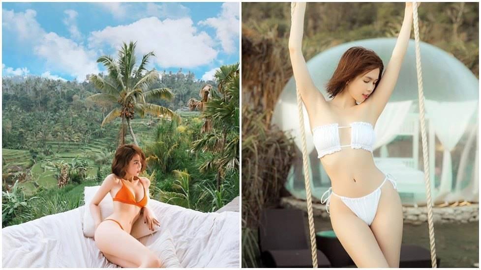 """Ngọc Trinh lại """"đốt mắt"""" với loạt ảnh du lịch Bali"""
