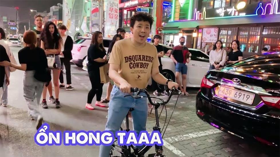Trấn Thành mang điệu nhảy gãy tay quậy tung nóc ở bar Hàn Quốc