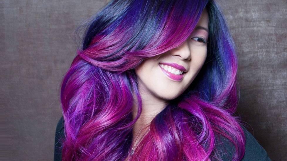 Tóc màu tím - sự nổi loạn đáng yêu