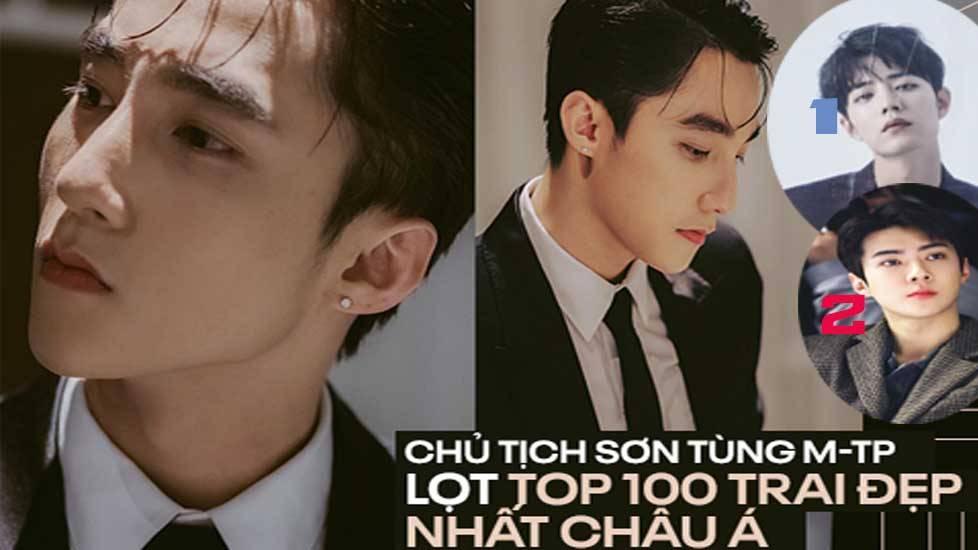 Sơn Tùng lọt top 100 gương mặt nam thần đẹp nhất châu Á