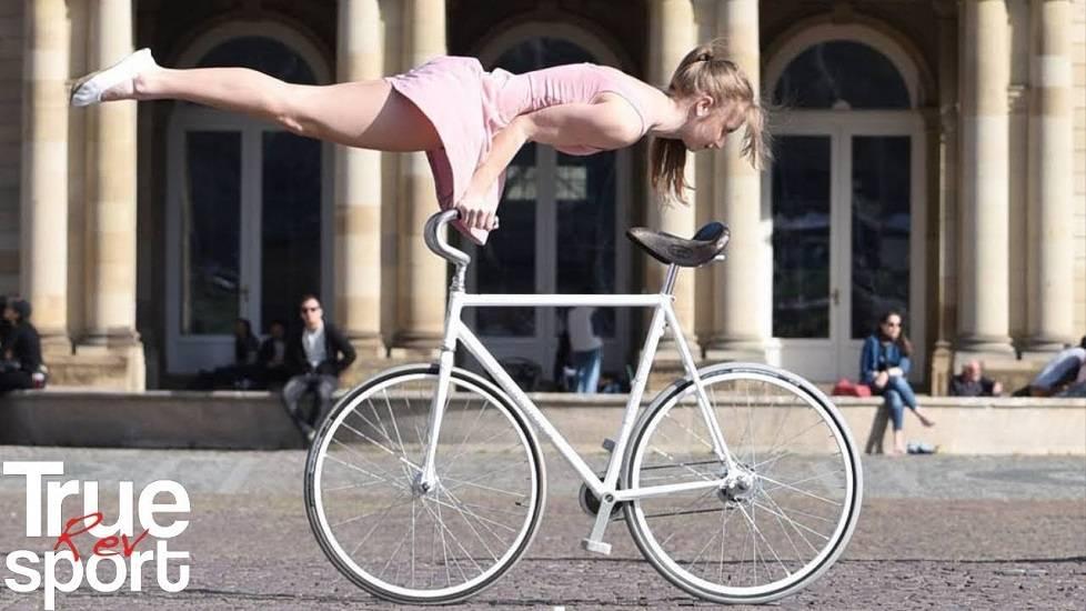 Choáng với các màn biểu diễn đỉnh cao của 'Nữ hoàng xe đạp'