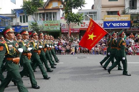 Rộn ràng lễ diễu binh kỷ niệm 70 năm Quốc khánh 2/9
