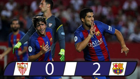 Sevilla 0-2 Barcelona (Lượt đi Siêu cúp Tây Ban Nha 2016)