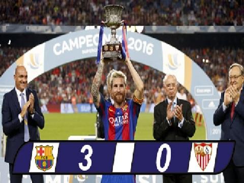 Barcelona 3-0 Sevilla (Lượt về Siêu cúp Tây Ban Nha 2016)