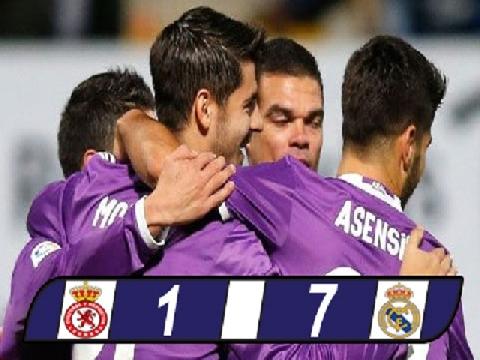 Leonesa 1-7 Real Madrid (Vòng 1/16 cúp nhà vua Tây Ban Nha)