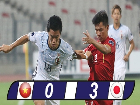 U19 Việt Nam 0-3 U19 Nhật Bản (Bán kết 2 U19 châu Á 2016)