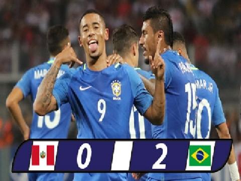 Peru 0-2 Brazil (VL World Cup 2018 khu vực Nam Mỹ)