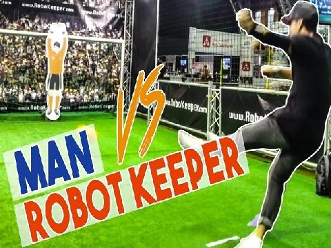 Lác mắt xem 'Vua bóng đá đường phố' hạ gục thủ môn Robot