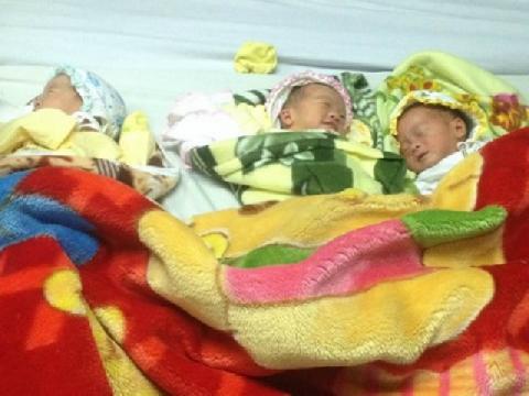 Sinh ba khác trứng hiếm gặp tại Thừa Thiên - Huế