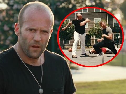 Ăn no đòn vì tội đánh bạn gái của Jason Statham