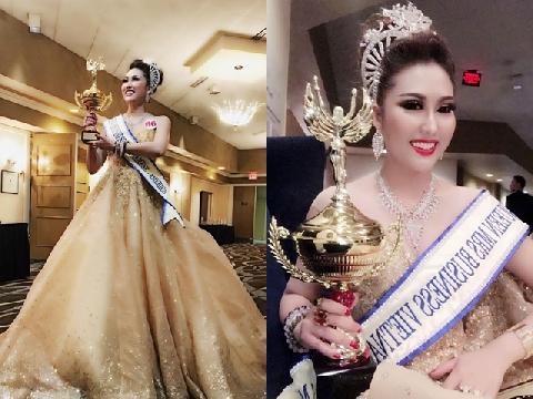 Phi Thanh Vân bất ngờ đăng quang Hoa hậu Doanh nhân Thế giới người Việt