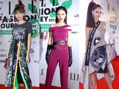 Dàn mỹ nhân Việt đua nhau khoe sắc trên thảm đỏ Elle Fashion Show