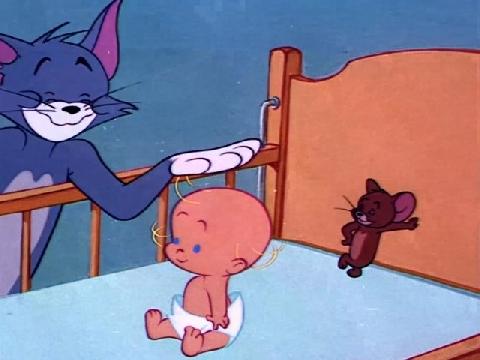 Cười ngất xem Tom và Jerry chăm sóc trẻ em