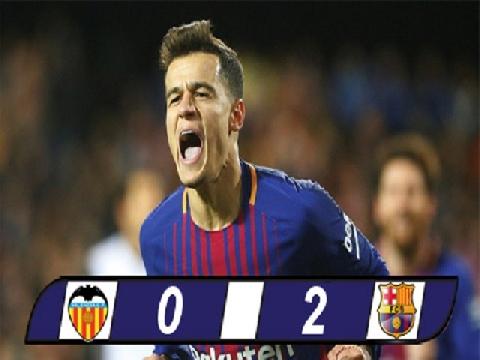 Valencia 0-2 Barcelona (Bán kết lượt về Cúp Nhà vua TBN)
