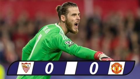 Sevilla 0-0 MU (Lượt đi vòng 1/8 Champions League)