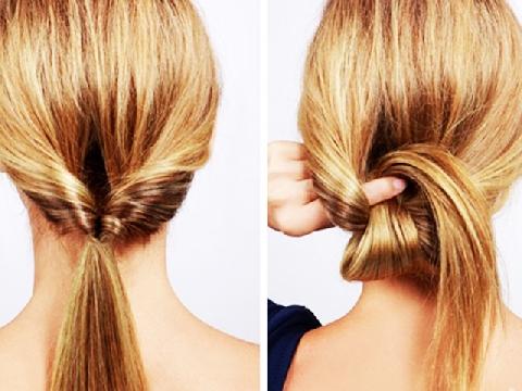 2 phút tạo kiểu tóc búi vặn xoắn đi chơi hay dự tiệc đều đẹp
