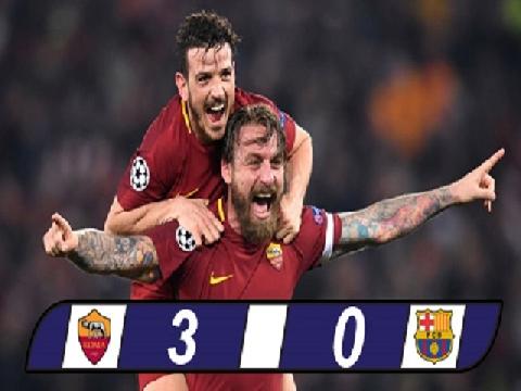 AS Roma 3-0 Barcelona (Tứ kết lượt về Champions League)