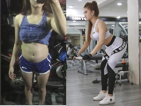 Cẩm Tiên '3 vòng như một' hóa hot girl nóng bỏng nhờ gym