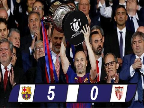 Barcelona 5-0 Sevilla (chung kết Cúp Nhà vua Tây Ban Nha)