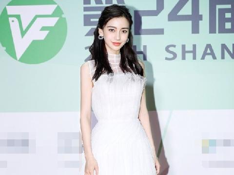 Angelababy diện váy trắng đẹp tựa thiên thần trên thảm đỏ