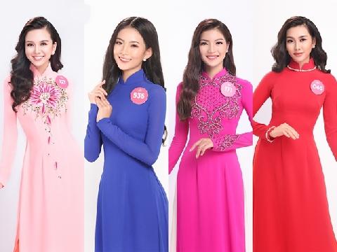 Thí sinh Hoa hậu Việt Nam 2018 diện áo dài khoe sắc rực rỡ