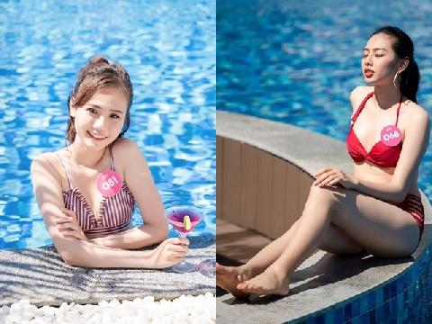 Thí sinh 'Hoa hậu Việt Nam 2018' khoe vẻ nóng bỏng với bikini