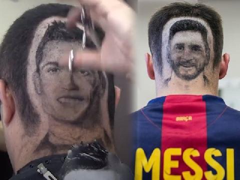 Đẹp mùa World Cup: Fan cắt tóc hình mặt CR7, Messi