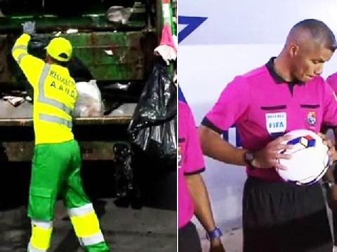 Trọng tài World Cup 2018 có nghề chính là công nhân thu gom rác