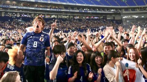 Người xem World Cup đi tiểu cùng lúc, Nhật Bản lo thiếu nước!