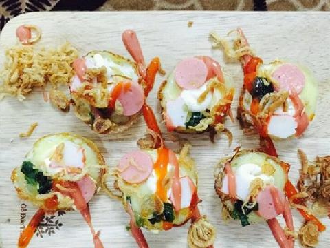 Bánh trứng cút phủ phô mai