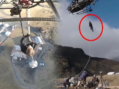 Thót tim xem Tom Cruise tự thực hiện cảnh đu trực thăng không cần đóng thế