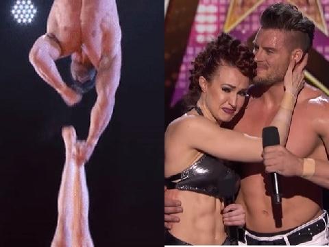 Thót tim khi thí sinh Got Talent làm rơi bạn diễn trên độ cao 10m