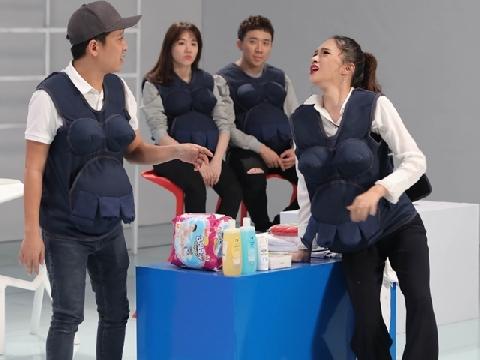 Hương Giang suýt ''đẻ rơi'' trong siêu thị làm Trường Giang bấn loạn