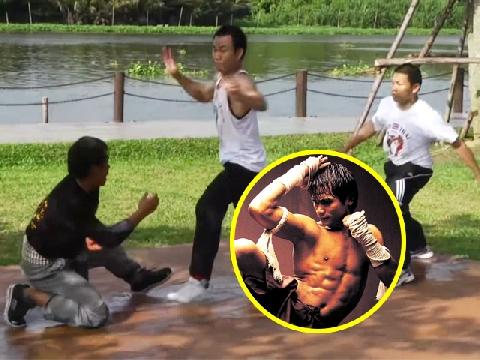 Đã mắt xem Tony Jaa biểu diễn cảnh '1 chọi 2' ngoài đời thực
