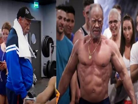 Cụ 72 tuổi vào phòng gym nâng tạ khiến các thanh niên sốc nặng!
