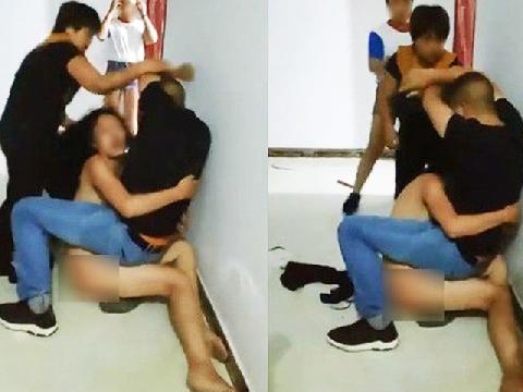Cay đắng nhìn chồng ôm chặt đỡ đòn cho bồ
