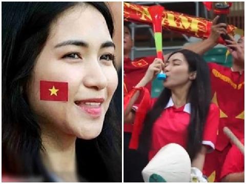 Hòa Minzy - fan cuồng bóng đá cổ vũ hết mình cho đội tuyển Việt Nam