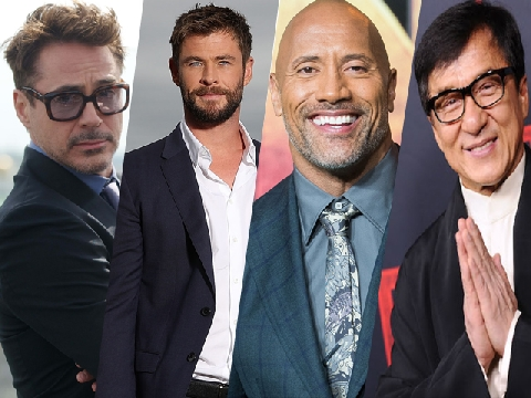 Top 10 diễn viên nam kiếm tiền nhiều nhất 2018