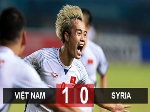 Olympic Việt Nam 1-0 Olympic Syria (Tứ kết ASIAD 2018)
