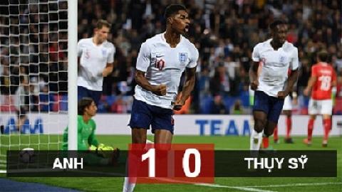 Anh 1-0 Thụy Sĩ (giao hữu quốc tế)
