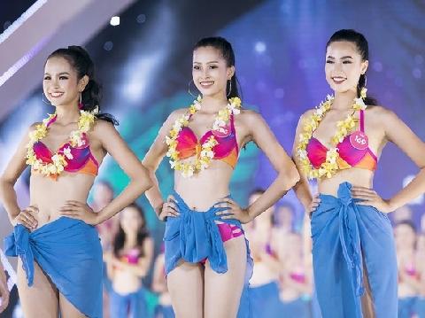 ''Bỏng mắt'' xem lại phần thi bikini nuột nà của Top 25 người đẹp Hoa Hậu Việt Nam