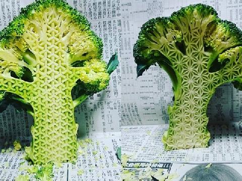 Đỉnh cao của nghệ thuật cắt rau củ quả là đây