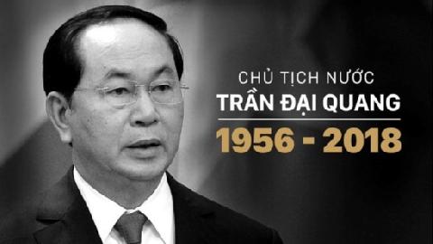 Lễ quốc tang Chủ tịch nước Trần Đại Quang sẽ được tổ chức thế nào