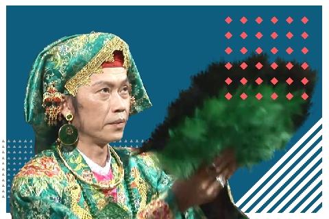 Hài Hoài Linh: Giả gái đi chùa