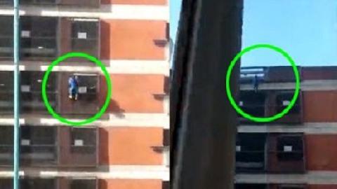 Cô gái tay không leo lên đỉnh bãi đỗ xe 8 tầng như người Nhện!