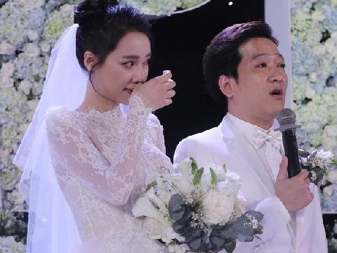 Trường Giang - Nhã Phương khóc nức nở trong lễ cưới thế kỷ