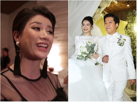 Trang Khàn ''dằn mặt'' người thứ 3 trong đám cưới Trường Giang