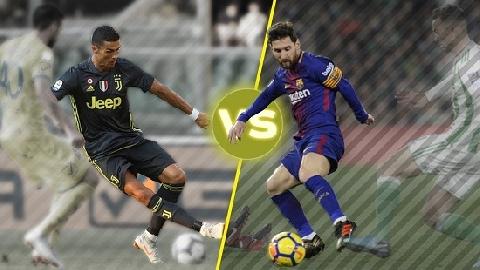 Top 10 pha đi bóng 1 chạm đỉnh cao của Ronaldo và Messi